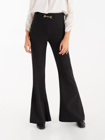 High waist trousers with carabiner High waist trousers with carabiner Rinascimento