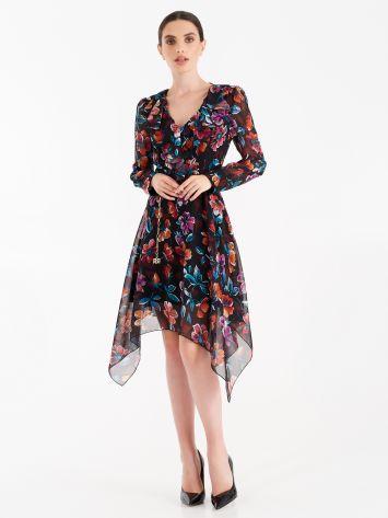 Georgette floral full dress Georgette floral full dress Rinascimento