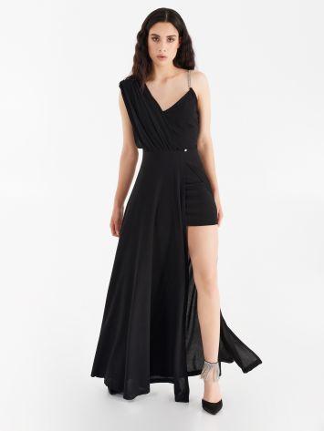 Asymmetrical dress with panel Asymmetrical dress with panel Rinascimento