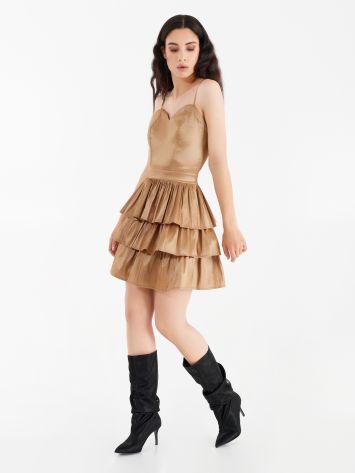 Taffeta dress with flounces Taffeta dress with flounces Rinascimento