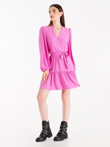Hyper pink frill dress Hyper pink frill dress Rinascimento