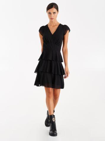 Dress with frills, black Dress with frills, black Rinascimento