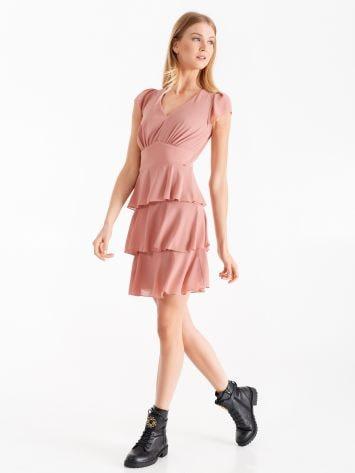 Dress with frills, rose blush Dress with frills, rose blush Rinascimento