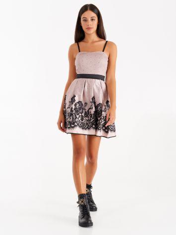 Lace print short dress Lace print short dress Rinascimento