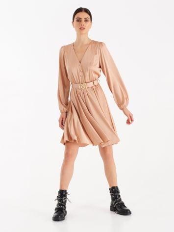 Dusty pink fluid fabric dress  Dusty pink fluid fabric dress  Rinascimento