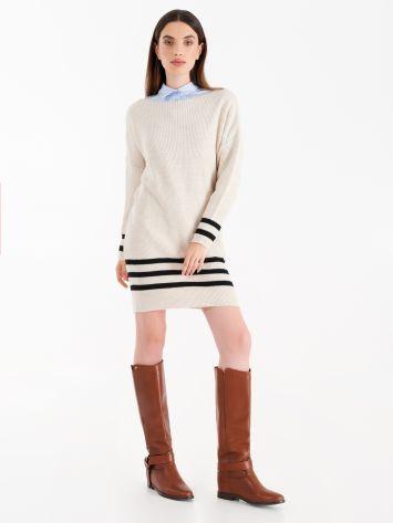 Striped knit dress Striped knit dress Rinascimento