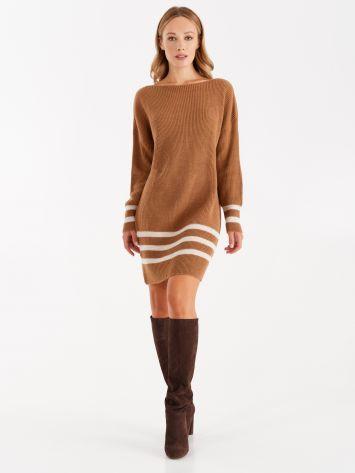 Knit dress with stripes Knit dress with stripes Rinascimento