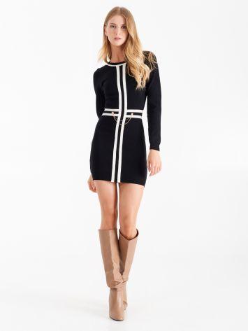 Knit dress, colour black Knit dress, colour black Rinascimento