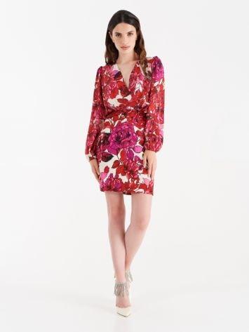Floral print satin dress Floral print satin dress Rinascimento