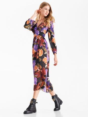 Floral print midi dress Floral print midi dress Rinascimento
