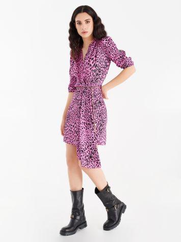 Asymmetrical printed dress Asymmetrical printed dress Rinascimento