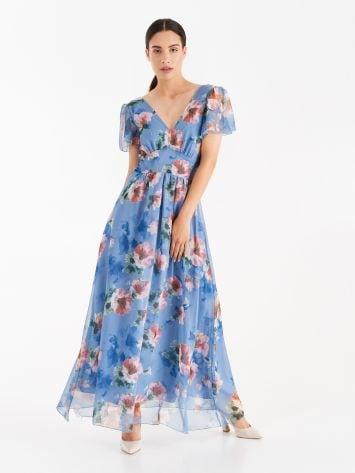 Floral print crepe dress Floral print crepe dress Rinascimento