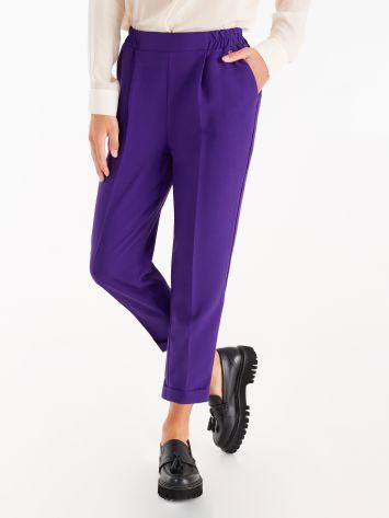Pantaloni Jogger in Tessuto Tecnico color Viola Pantaloni Jogger in Tessuto Tecnico color Viola Rinascimento