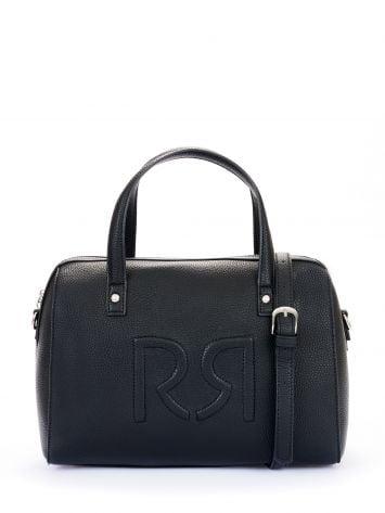 Logo duffle bag in faux leather, black Logo duffle bag in faux leather, black Rinascimento