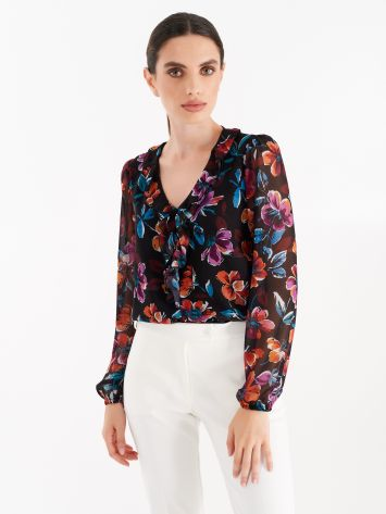 Georgette floral printed blouse Georgette floral printed blouse Rinascimento