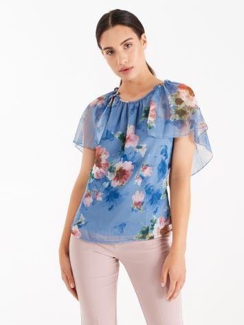 Floral print crepe blouse Floral print crepe blouse Rinascimento