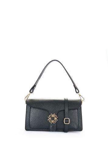 Leather Monogram bag, colour black Leather Monogram bag, colour black Rinascimento