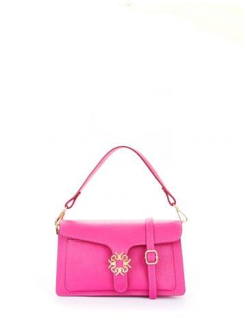 Leather Monogram bag, colour hyper pink Leather Monogram bag, colour hyper pink Rinascimento