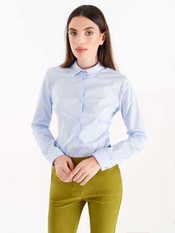 Light blue cotton shirt Light blue cotton shirt Rinascimento