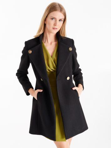 Medium-length coat, black Medium-length coat, black Rinascimento
