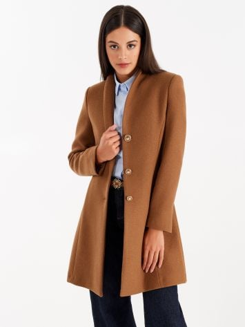 Coat with stand-up collar, caramel Coat with stand-up collar, caramel Rinascimento