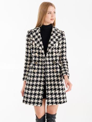 Houndstooth pattern coat Houndstooth pattern coat Rinascimento