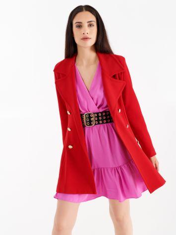 True Red A-line coat True Red A-line coat Rinascimento