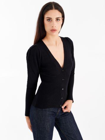 Knit cardigan, colour black Knit cardigan, colour black Rinascimento