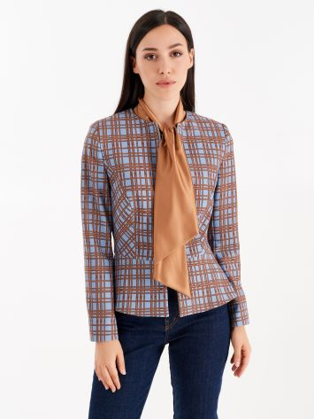 Chequered jacket with scarf Chequered jacket with scarf Rinascimento