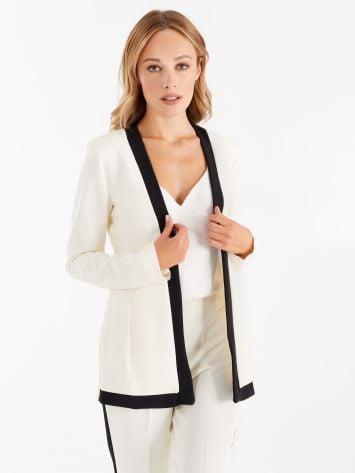 Jacket with contrasting trim Jacket with contrasting trim Rinascimento