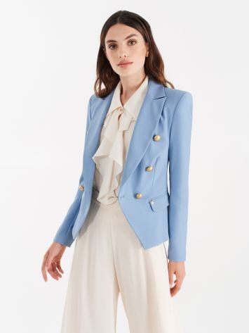 Cerulean blue double-breasted jacket Cerulean blue double-breasted jacket Rinascimento