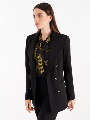 Double-breasted jacket, black colour Double-breasted jacket, black colour Rinascimento