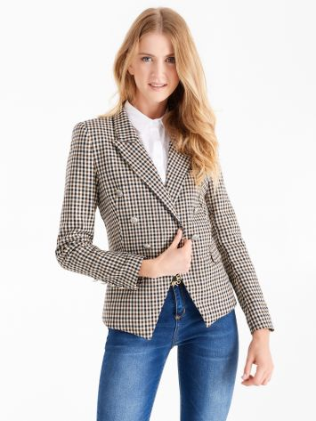 Double-breasted jacket in masculine fabric Double-breasted jacket in masculine fabric Rinascimento