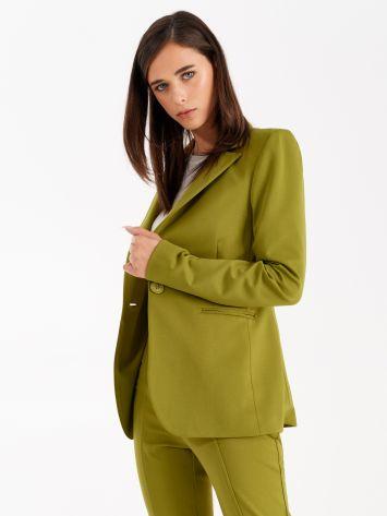 Jacket in Milano stitch, oil green Jacket in Milano stitch, oil green Rinascimento