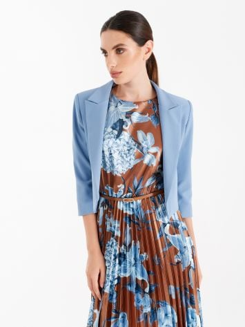 Chaqueta de tejido técnico color azul cerúleo Chaqueta de tejido técnico color azul cerúleo Rinascimento