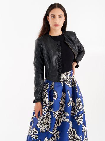 Black faux leather jacket Black faux leather jacket Rinascimento