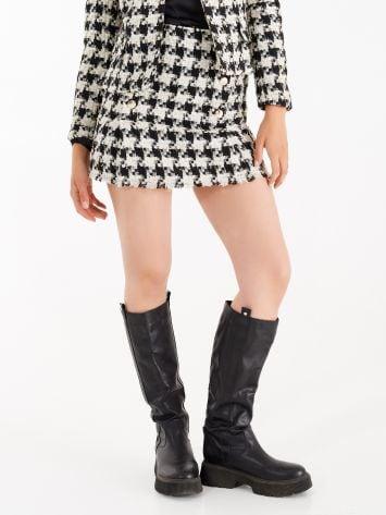 Matting skirt with lurex threads Matting skirt with lurex threads Rinascimento