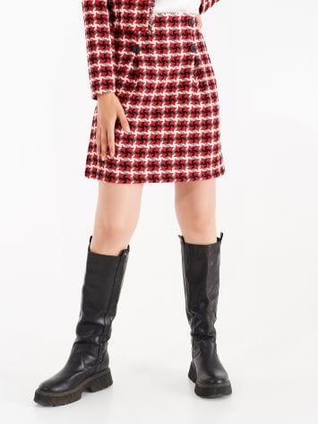 Cotton and viscose matting skirt Cotton and viscose matting skirt Rinascimento