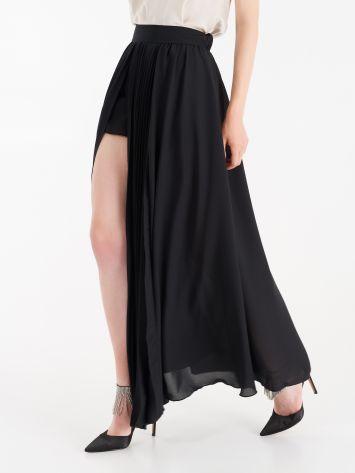 Long skirt in double georgette Long skirt in double georgette Rinascimento