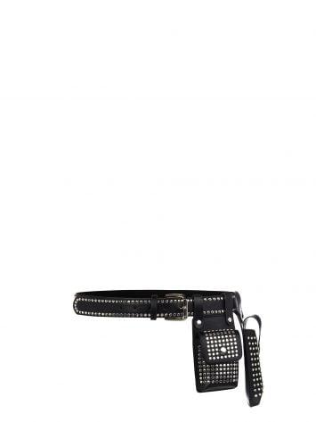 Utility Belt, black with studs Utility Belt, black with studs Rinascimento