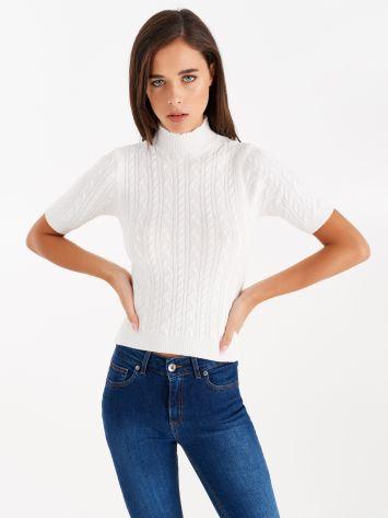 Light knit turtleneck, colour white Light knit turtleneck, colour white Rinascimento
