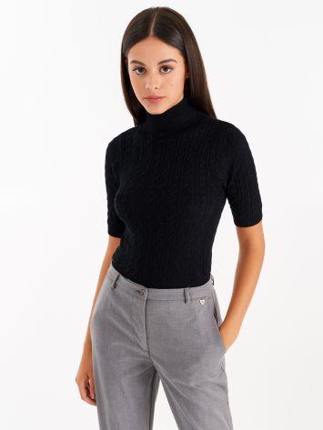 Light knit turtleneck, colour black Light knit turtleneck, colour black Rinascimento
