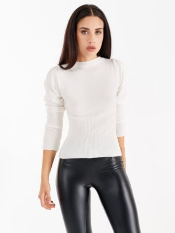 Top with puffed sleeves, colour white Top with puffed sleeves, colour white Rinascimento