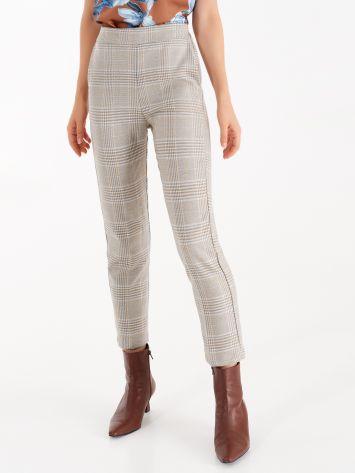 Pantaloni Check con Filo Lurex Pantaloni Check con Filo Lurex Rinascimento