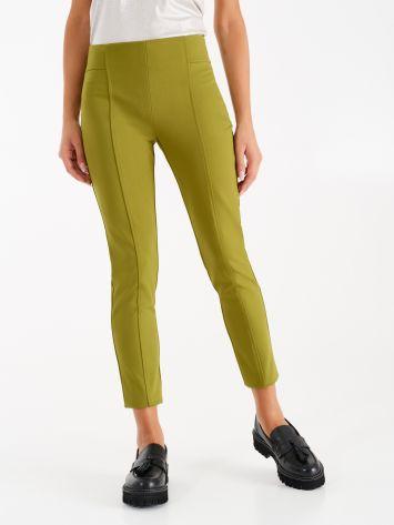 Pantaloni in Punto Milano color Verde Olio Pantaloni in Punto Milano color Verde Olio Rinascimento