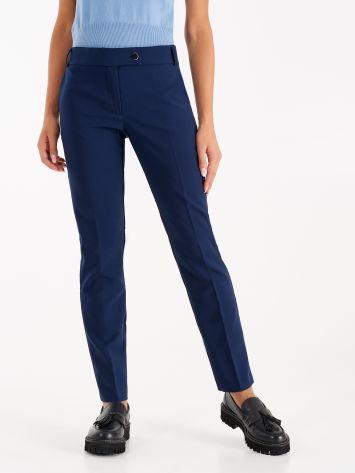 Pantaloni in Tessuto Tecnico color Blu Pantaloni in Tessuto Tecnico color Blu Rinascimento