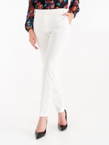 Pantaloni in Tessuto Tecnico color Bianco Pantaloni in Tessuto Tecnico color Bianco Rinascimento