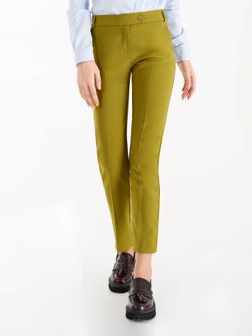 Pantaloni in Tessuto Tecnico color Verde Olio Pantaloni in Tessuto Tecnico color Verde Olio Rinascimento