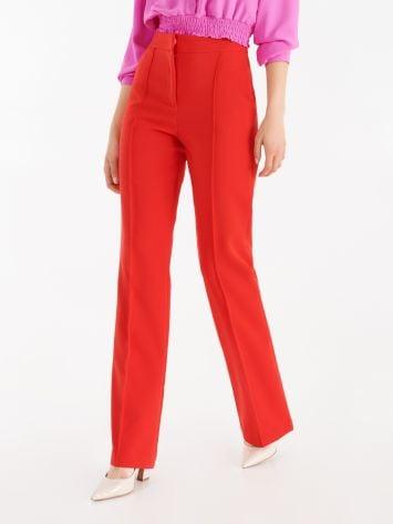 Pantaloni Mid Flared Full Length color True Red Pantaloni Mid Flared Full Length color True Red Rinascimento