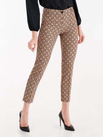 Geometric print trousers Geometric print trousers Rinascimento